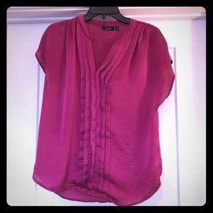 Magenta Ruffle sleeveless blouse